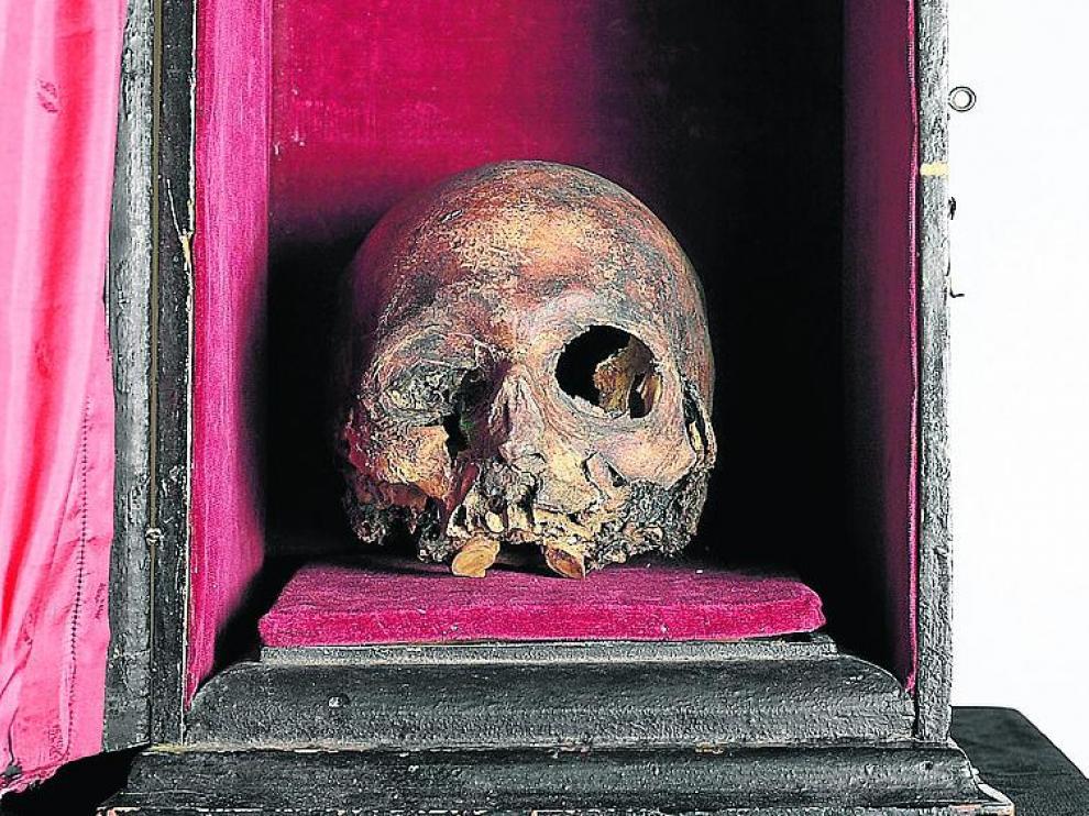 El cráneo del Papa Luna, más cerca de regresar a Sabiñán